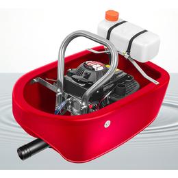 漂浮式灌溉机四冲程喷灌机20米水管锐尔1.5寸船式水泵