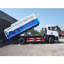 出泥口对接15吨污泥运输车+15吨污泥自卸车按揭