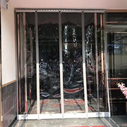 连云区自吸磁铁对吸塑料透明PVC软门帘冬季保暖防风空调帘