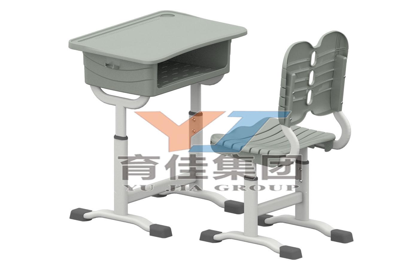 套管式升降塑料課桌椅
