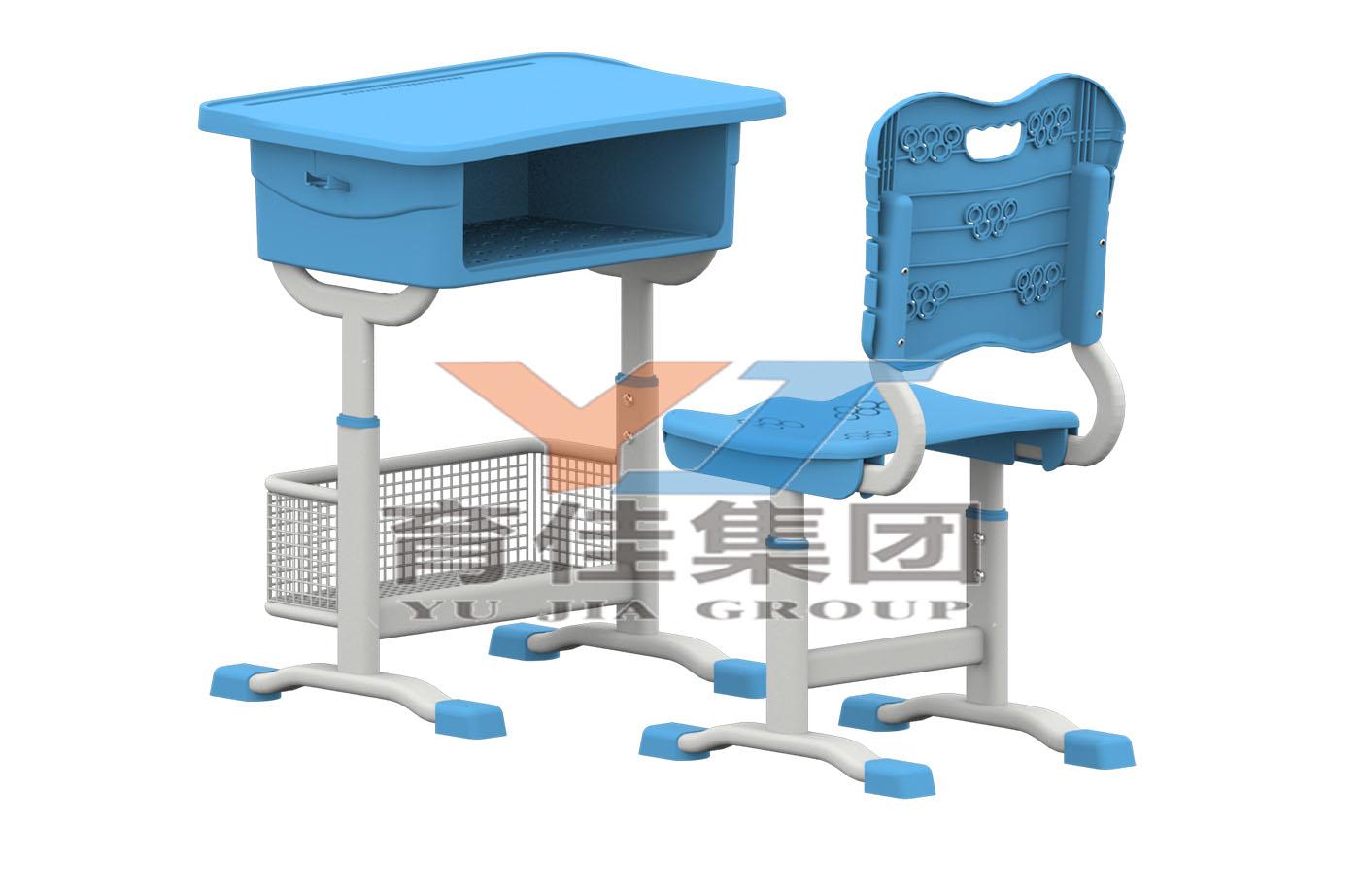 套管升降五環課桌椅