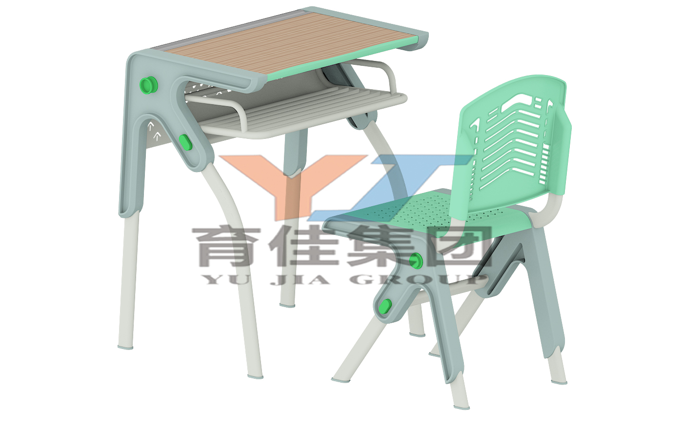 单人箭头课桌椅