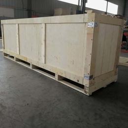 进出口木包装箱厂家定做免熏蒸木箱两面进叉 山东木箱厂生产