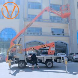 20米折臂升降机 20米升降平台 液压登高车 高空作业平台
