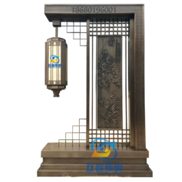 不锈钢庭院灯景观灯仿云石电镀拉丝造型灯新古典宫廷灯6米高定制