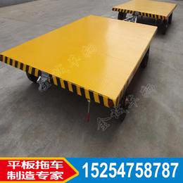 厂区搬运货物牵引3吨实心轮平板拖车叉车托盘板车厂家直销