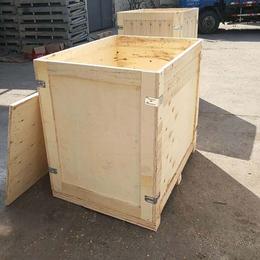 低价促销木质包装箱厂定做钢边木箱可多次使用 青岛黄岛厂家
